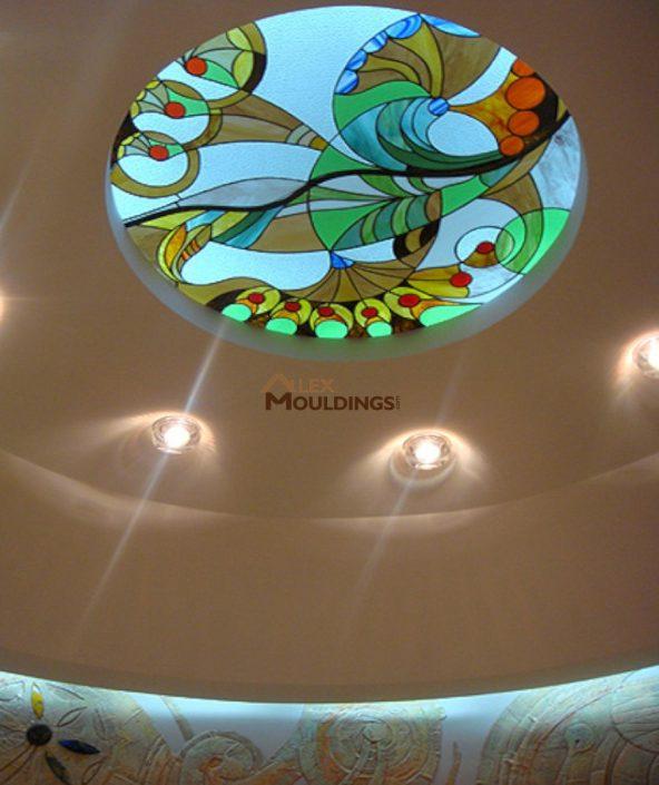 accent lighting around skylight