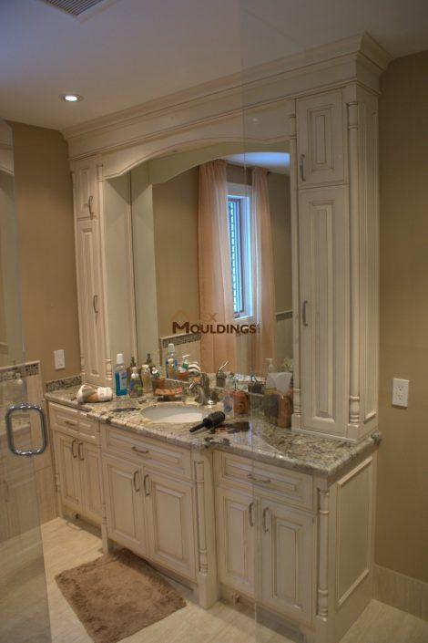 antique finish bath vanity