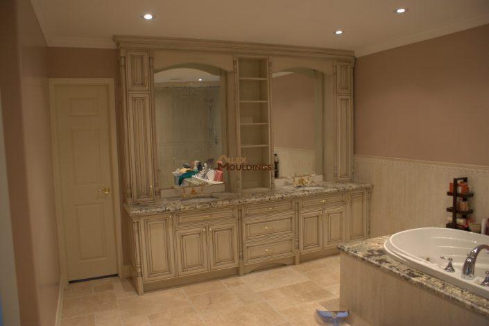 luxury bathroom built in vanity