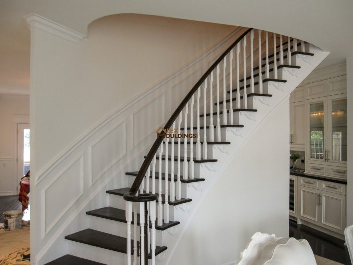 wall applications on stairway