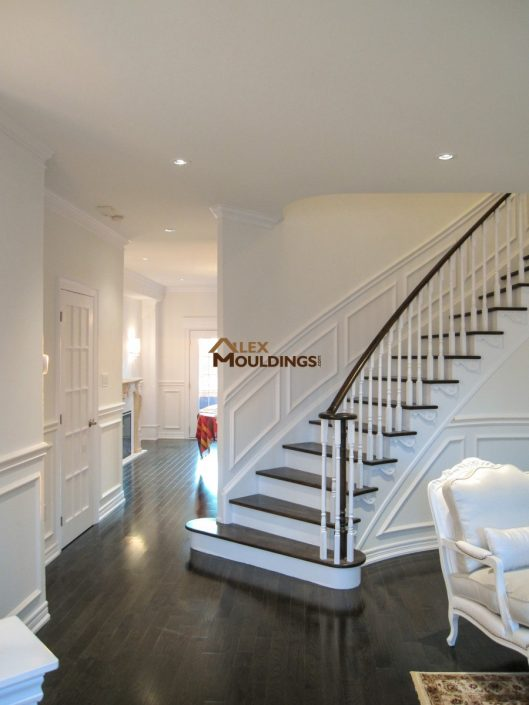 appliques on curvy stairway