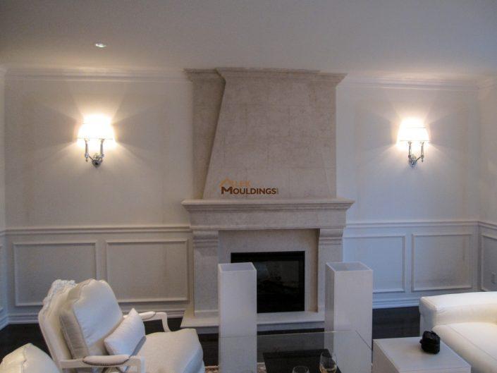 living room half wall design