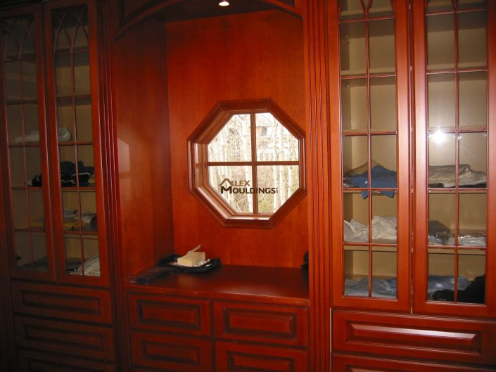 walk in built in closet system