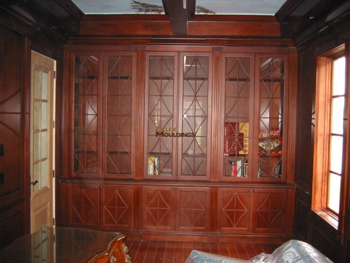 solid wood wall unit style