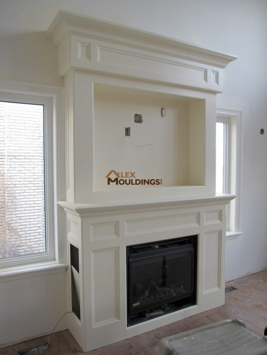 tall mantel design