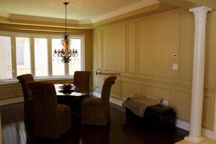 dining room wall trim design