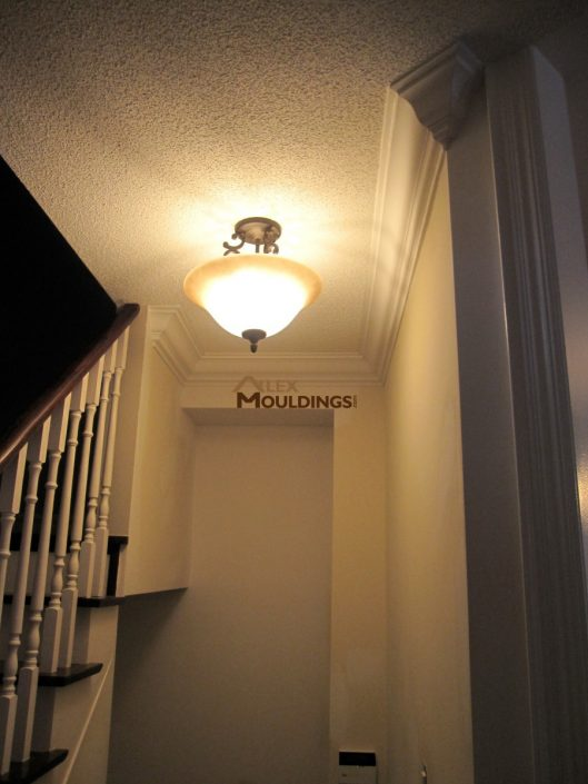 stairway moulding on the wall