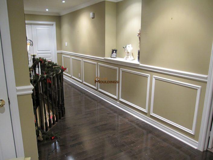 half wall hallway bottom frames