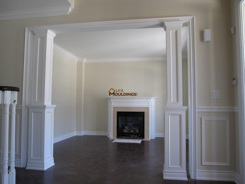Interior columns pictures for Mdf square columns