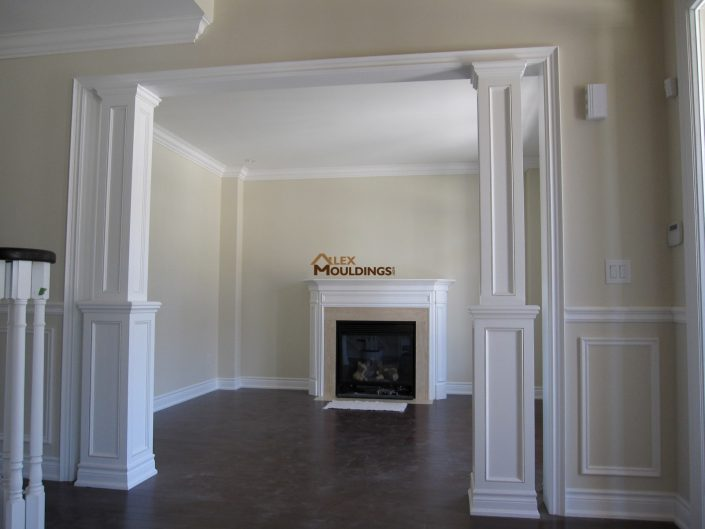 cornice moulding with mdf columns