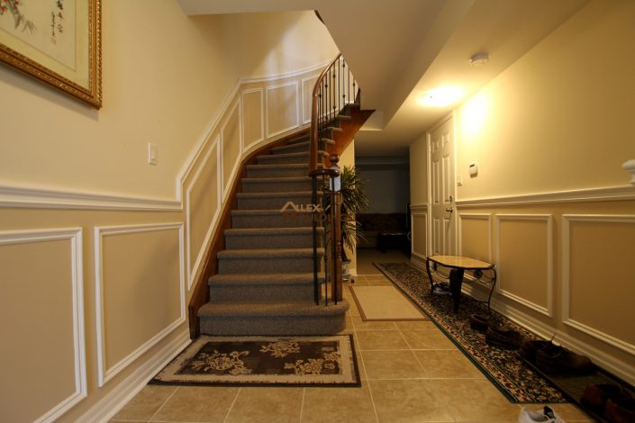 Stairs up wall trim