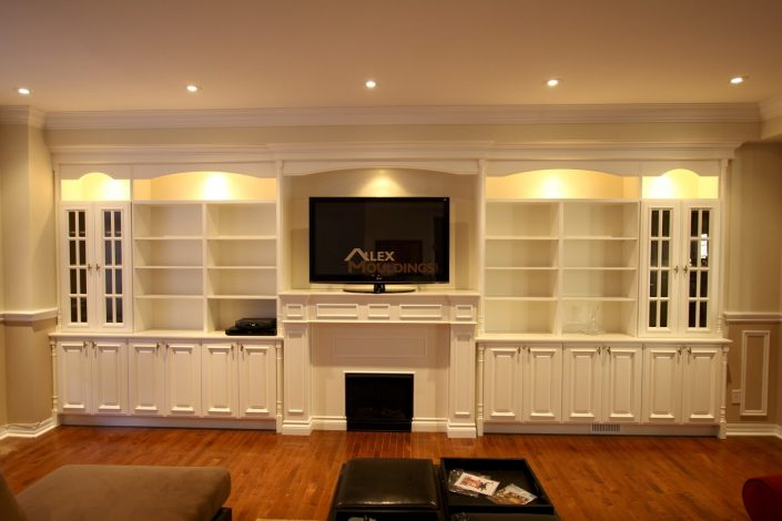 entertainment center with led lighting