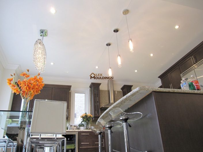 pendant lights and pot lights combination