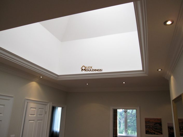 skylight designed with crown mouldings