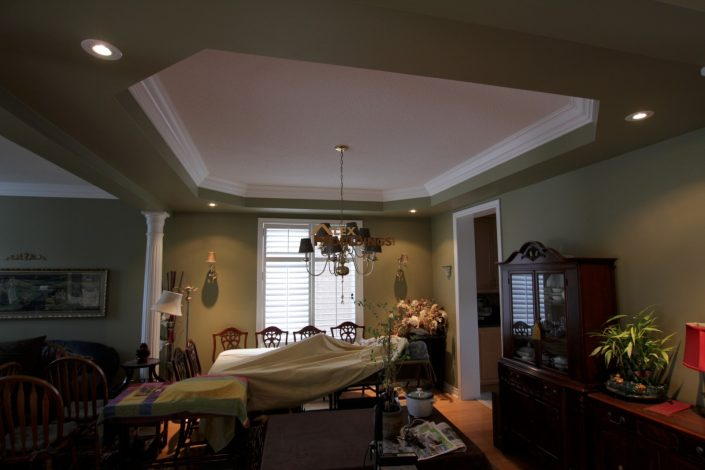 decorative moulding inside tray ceiling