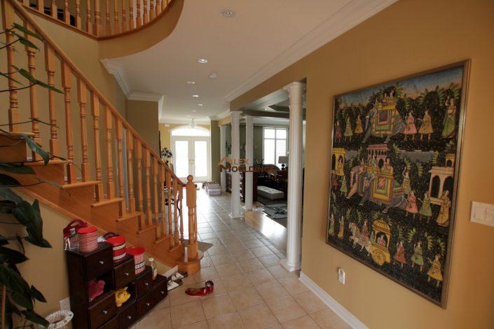 hallway modern moldings