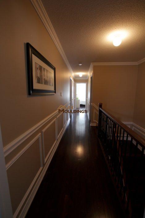 half wall hallway wainscotting