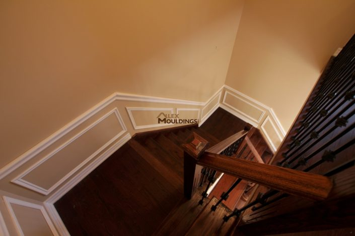 Stairs down appliques on the wall