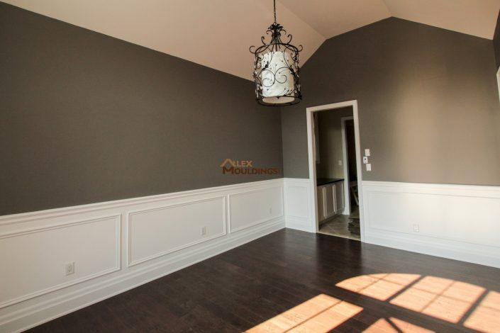 half wall pained appliques
