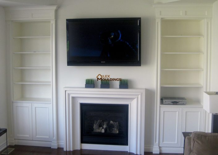 2 side units and mantel