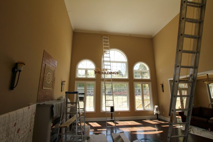 high ceiling moulding installations