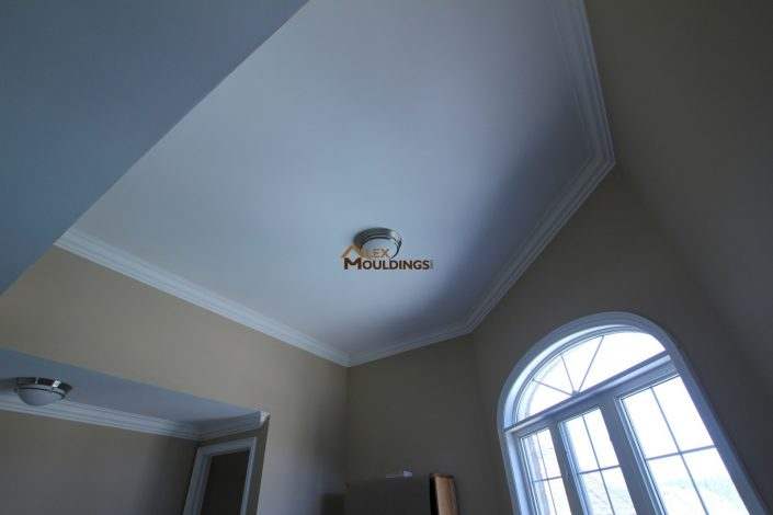 high ceiling with rounded corners