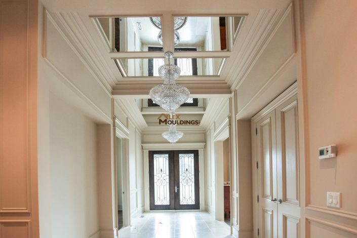 hallway mirrored ceiling