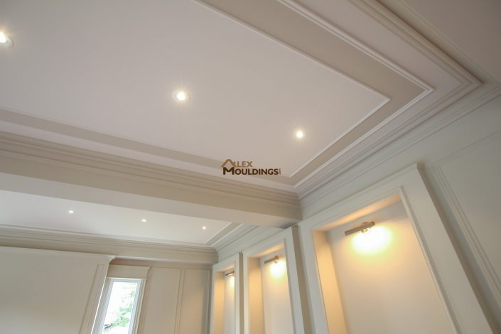 ceiling frames and accent color