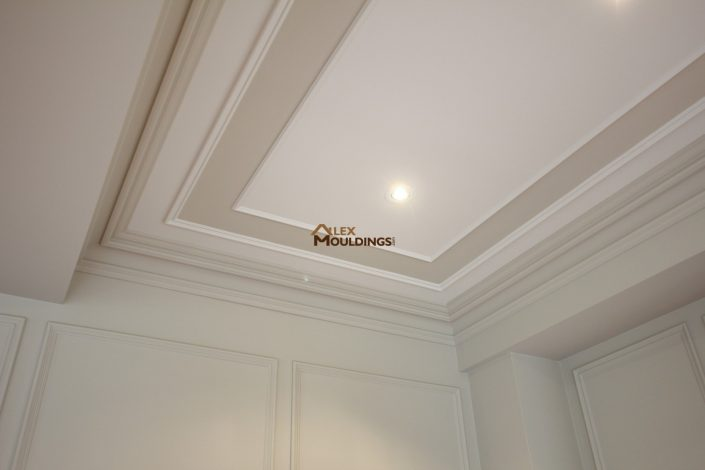 accent ceiling with recessed lights
