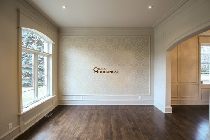 combination of appliques and wallpaper