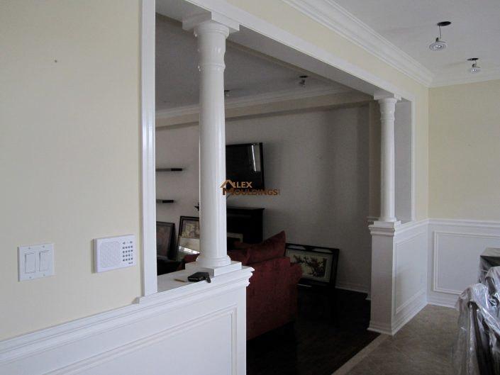 ceiling styled with cornice mouldings