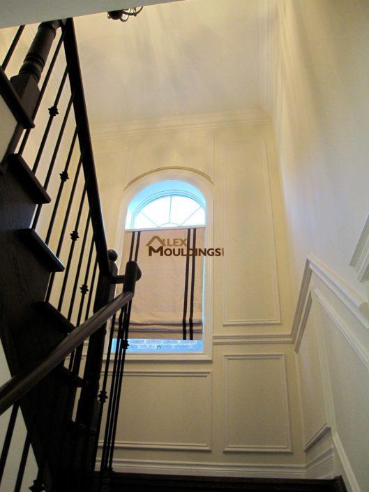 stairway full wall wainscotting trims
