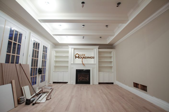 Ceiling design in a living room