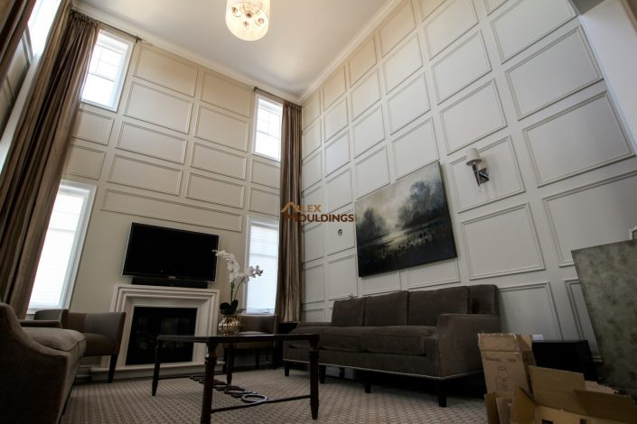 open to above area wall panels