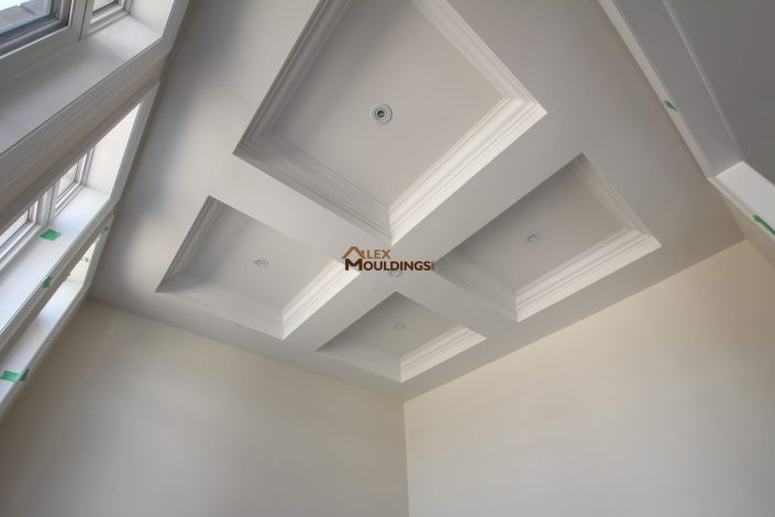 wide beams on the ceiling