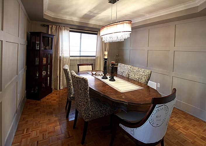 dining room shaker wainscoting
