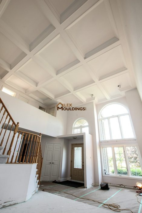 Entry way coffered ceiling