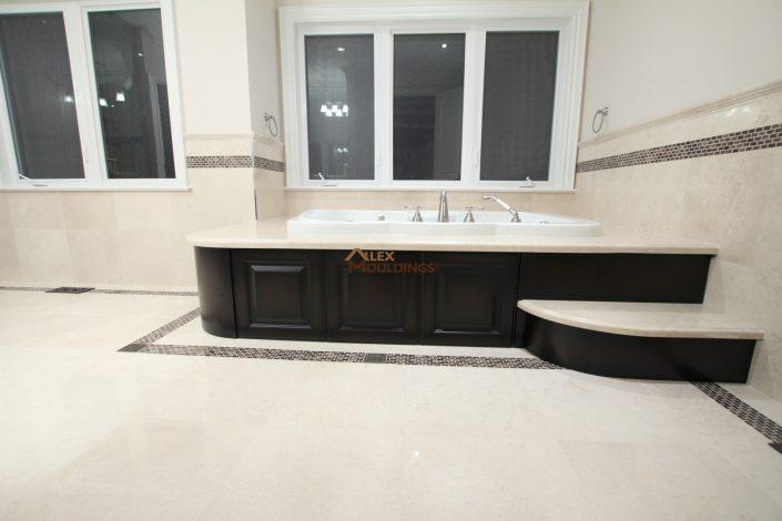 custom wainscoting on bath