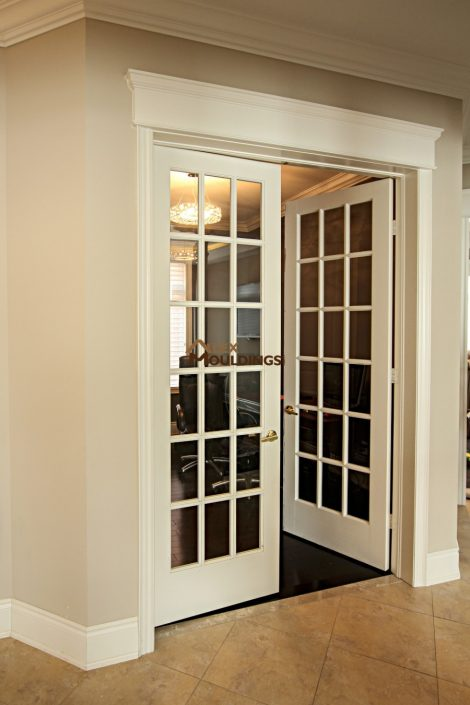 French doorway with casing finish