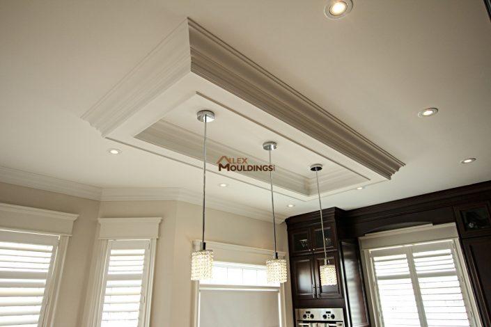 Ceiling box above kitchen island