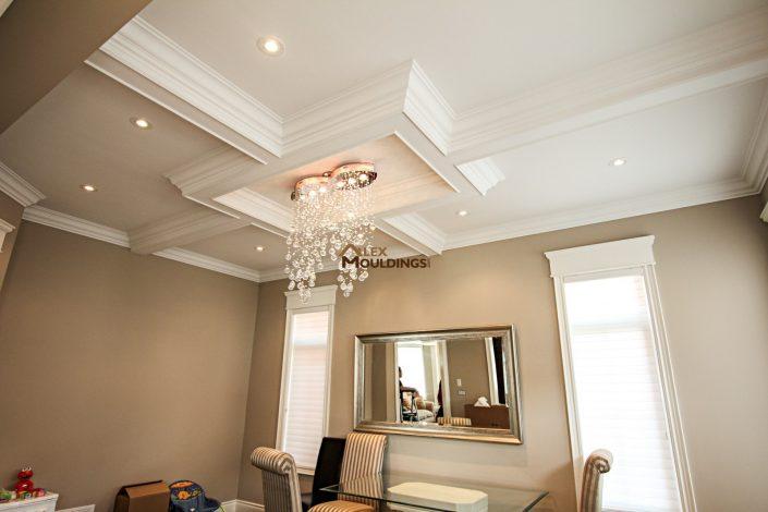 Dining room coffer ceiling design