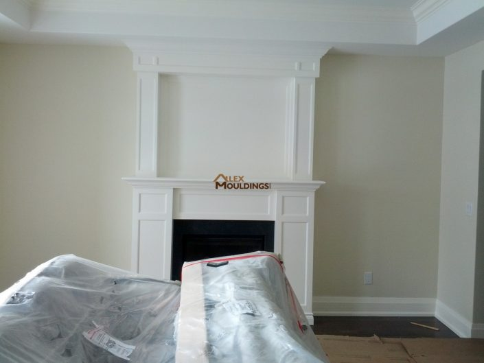 white custom mantel