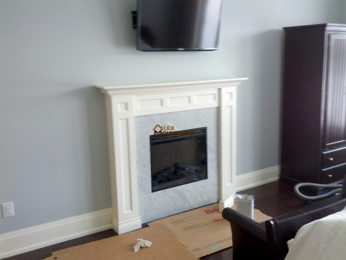 custom designed mantel
