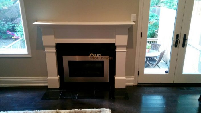mantel with columns design