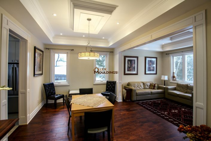 Living room custom millwork