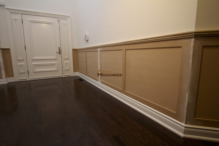flat panel wainscoting ready for paint