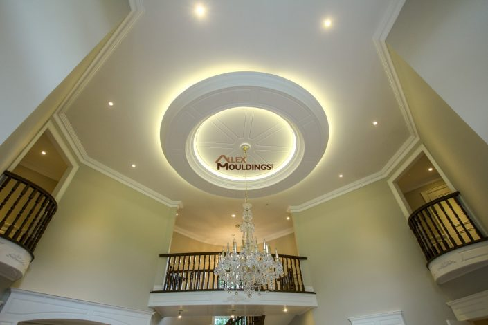 Round Paneled Ceiling Design