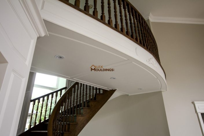 Ceiling paneled with wainscoting