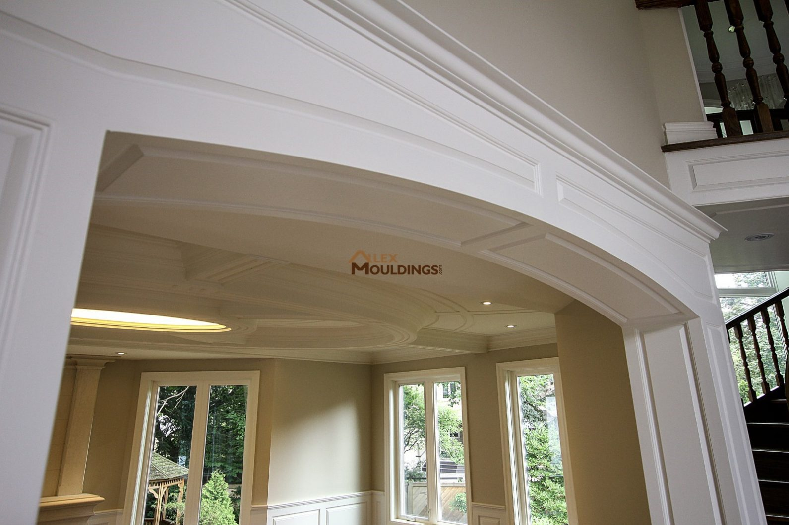 Recessed wall paneled wainscot