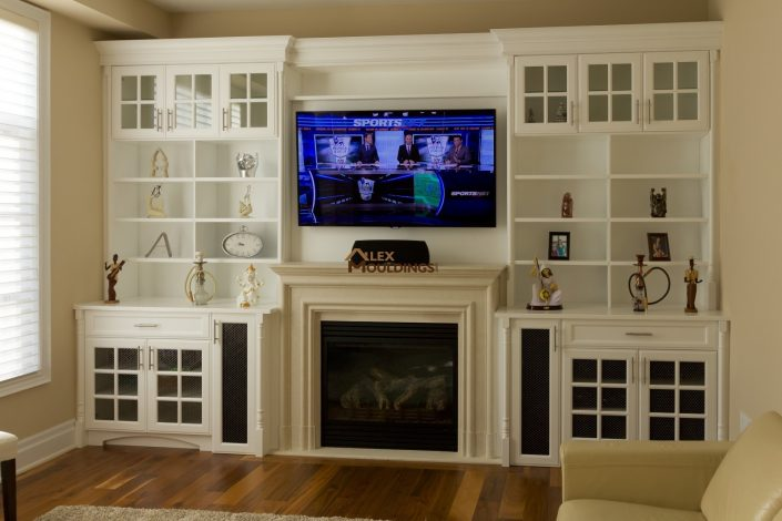 classic white wall unit